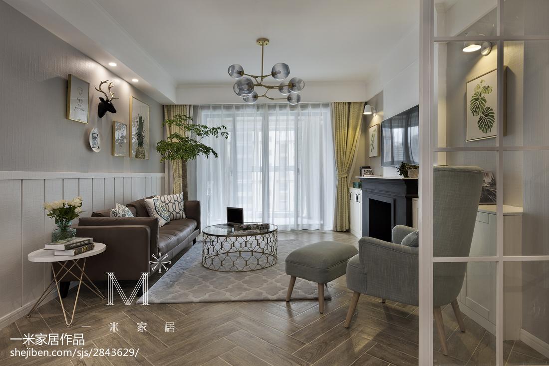 精美95平米三居客厅美式装修实景图片