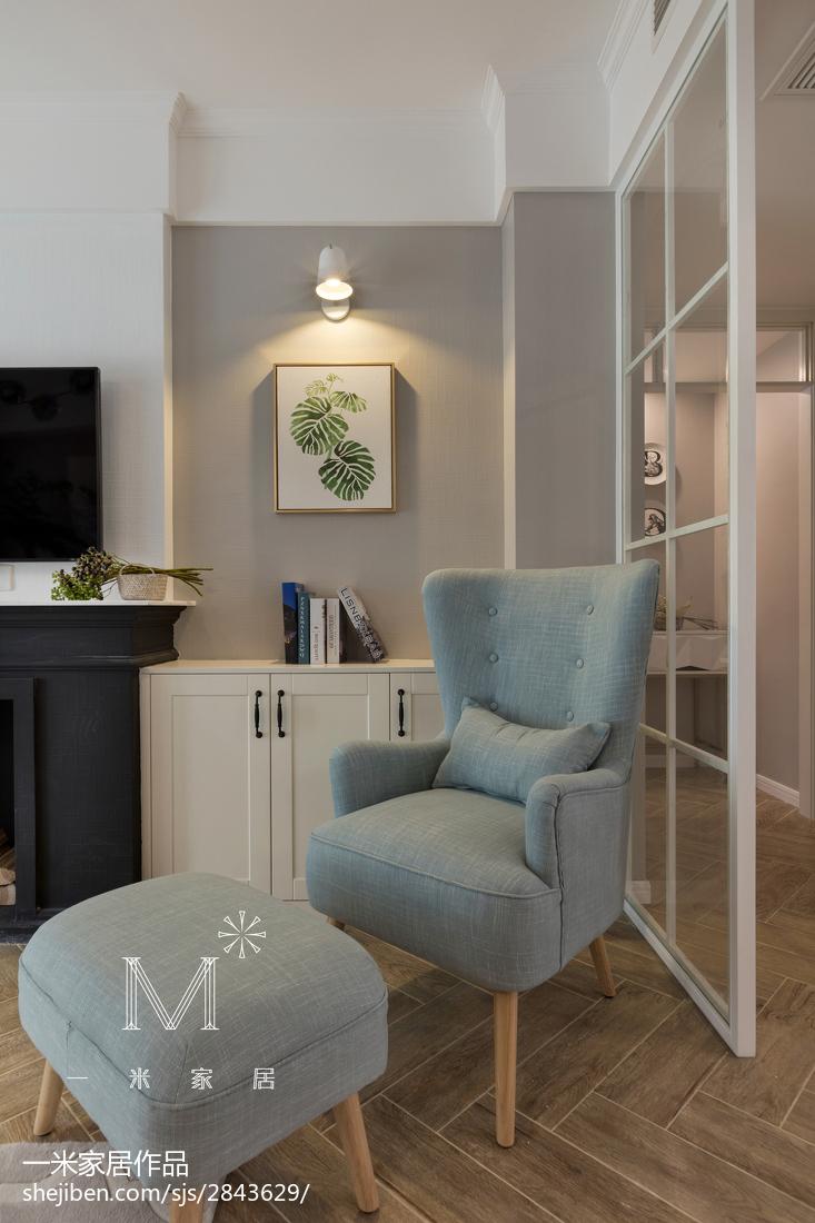 2018102平米三居客厅美式装修设计效果图片