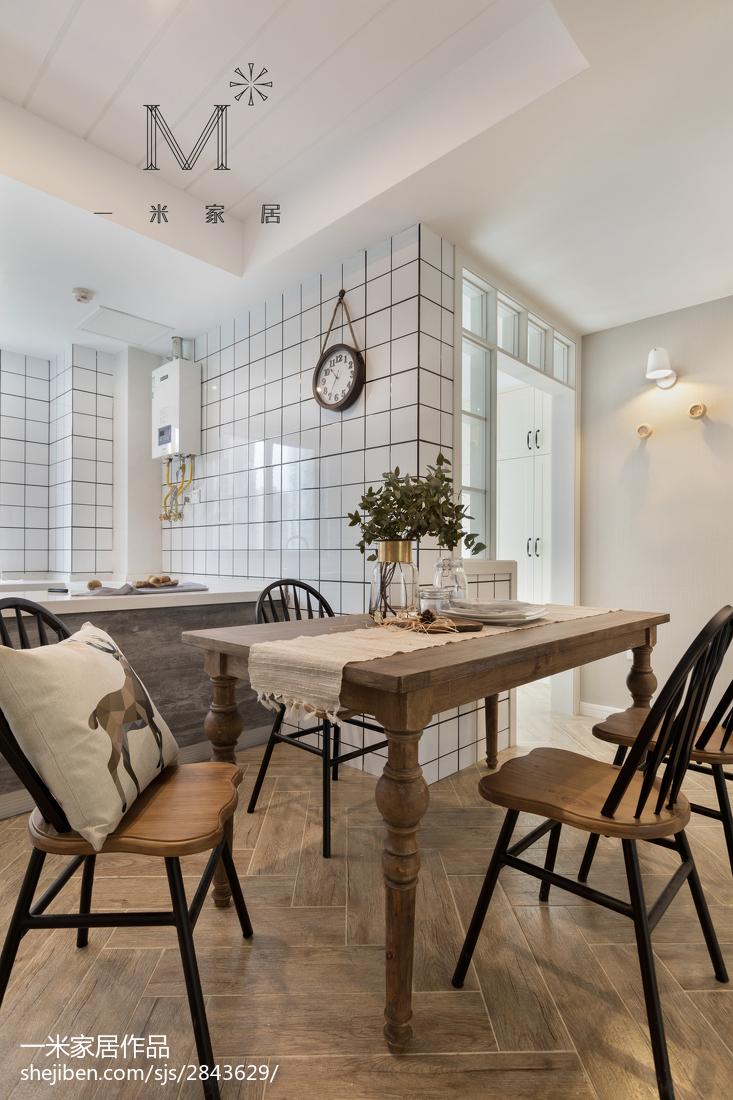 2018大小97平美式三居餐厅效果图片