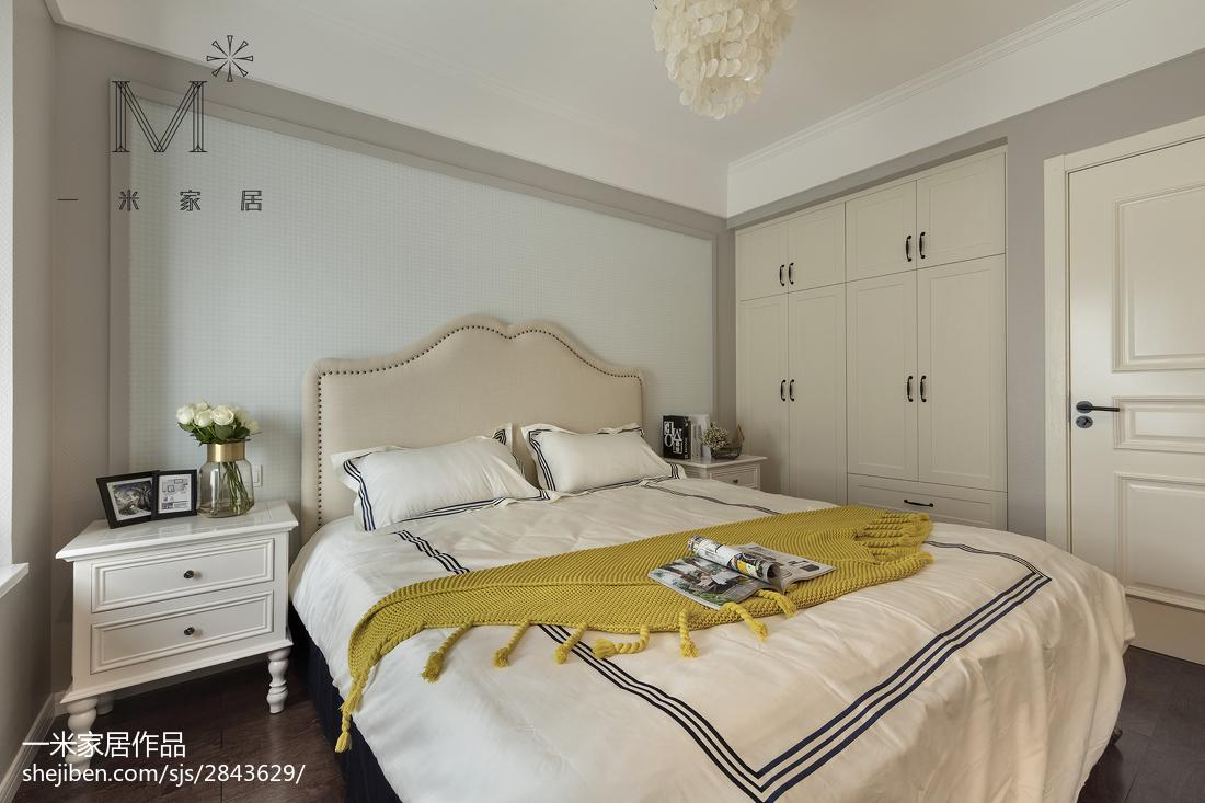 精选面积98平美式三居卧室装修实景图片