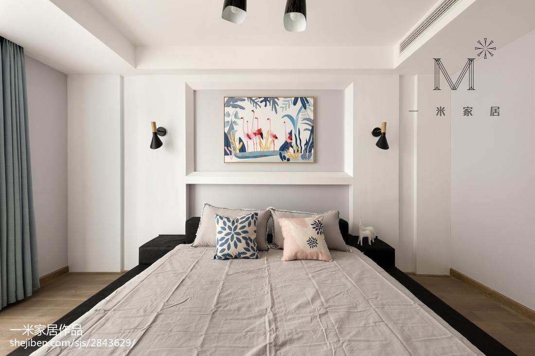 2018精选面积108平现代三居卧室装饰图片欣赏