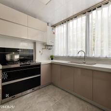 130m² 现代简约厨房设计图