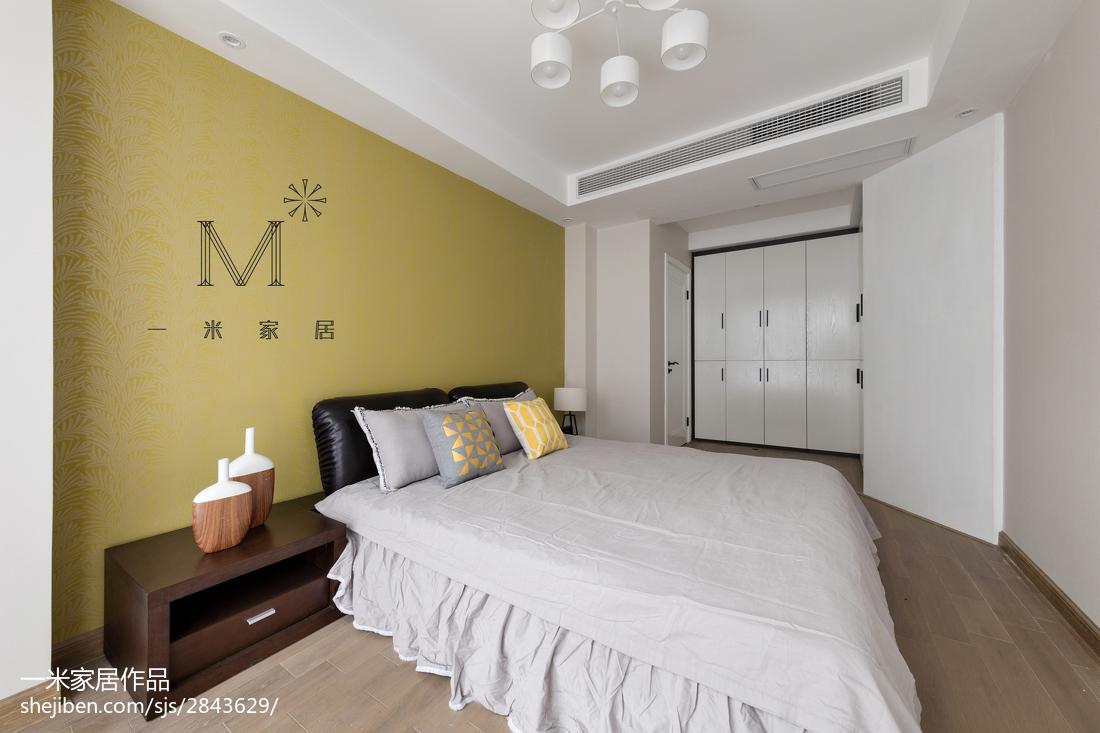 精美104平方三居卧室现代装修图