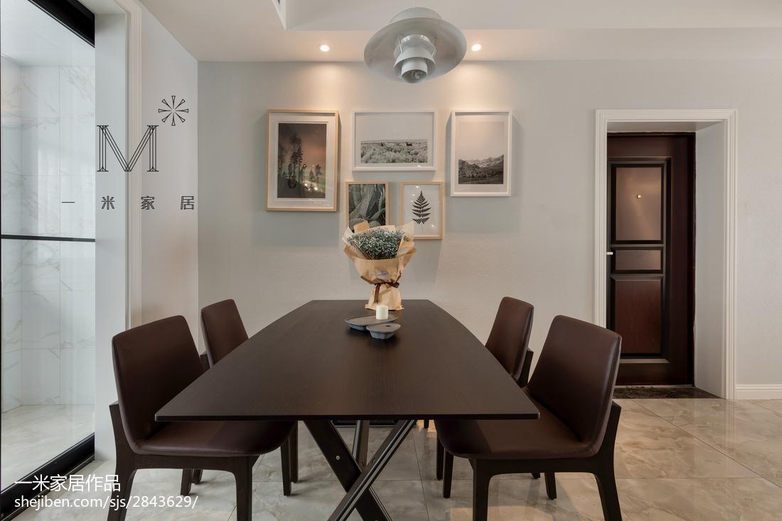 精美面积98平现代三居餐厅装饰图片欣赏