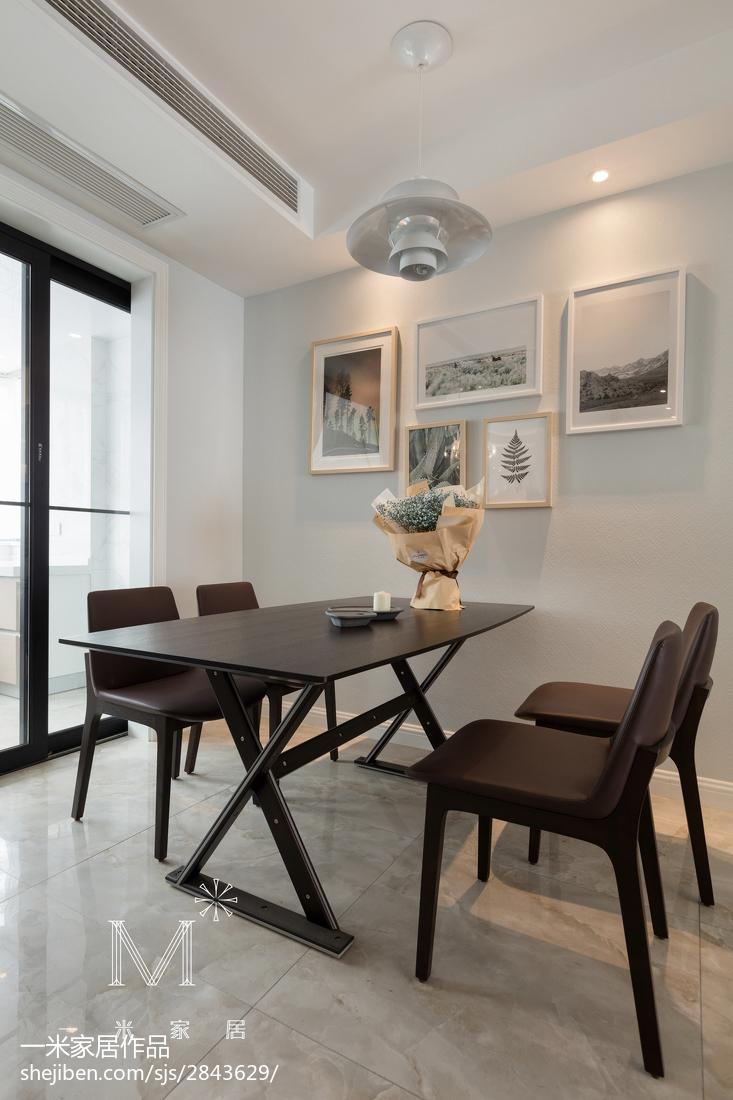 优雅113平现代三居餐厅装潢图