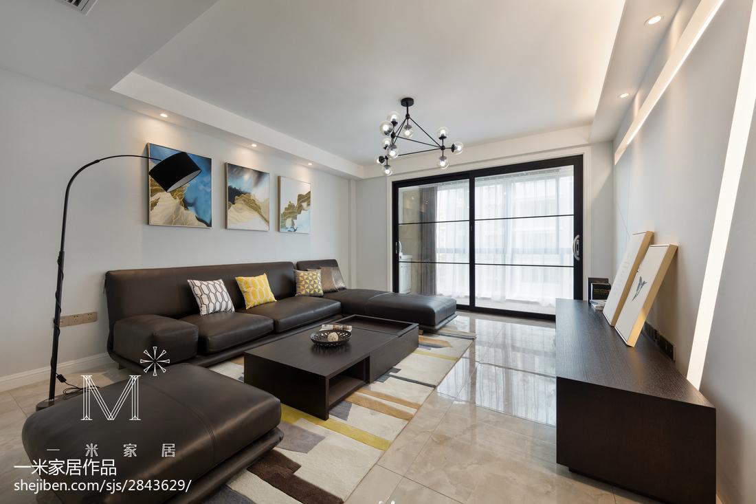 100平客厅三居现代装饰图片大全