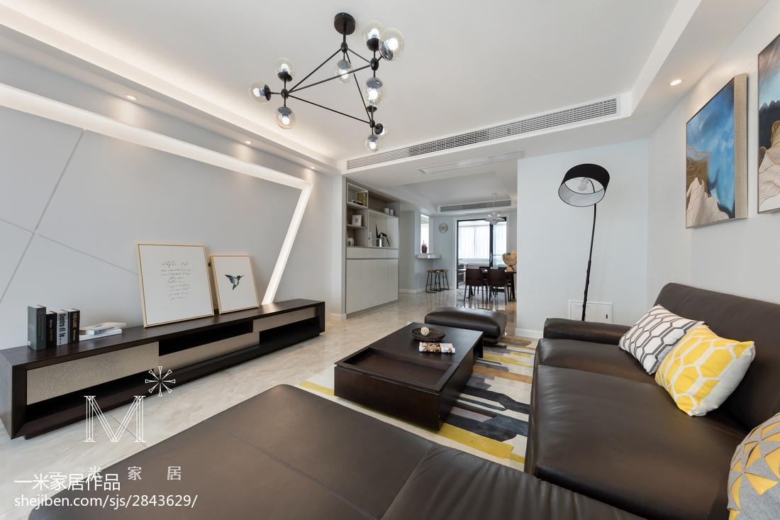 精选104平客厅三居现代装修设计效果图片