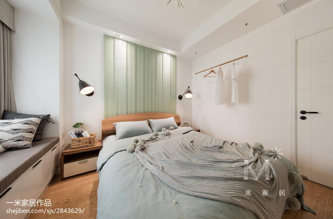 80m² 色彩北欧卧室设计效果图