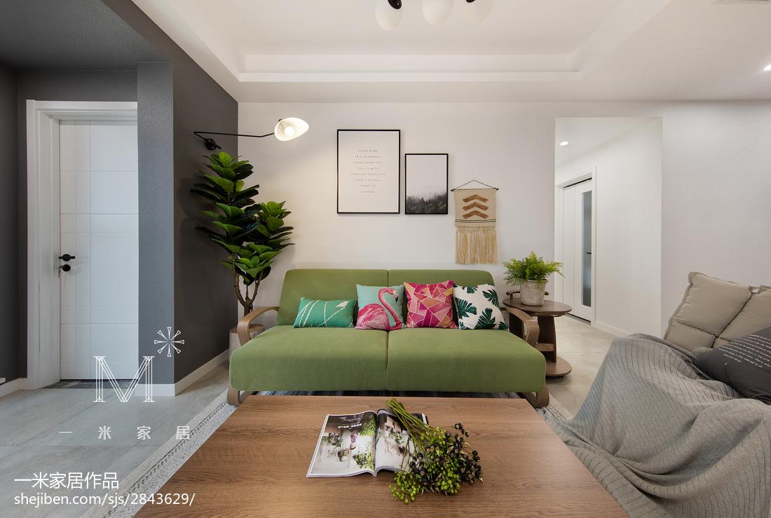 温馨76平北欧二居客厅美图