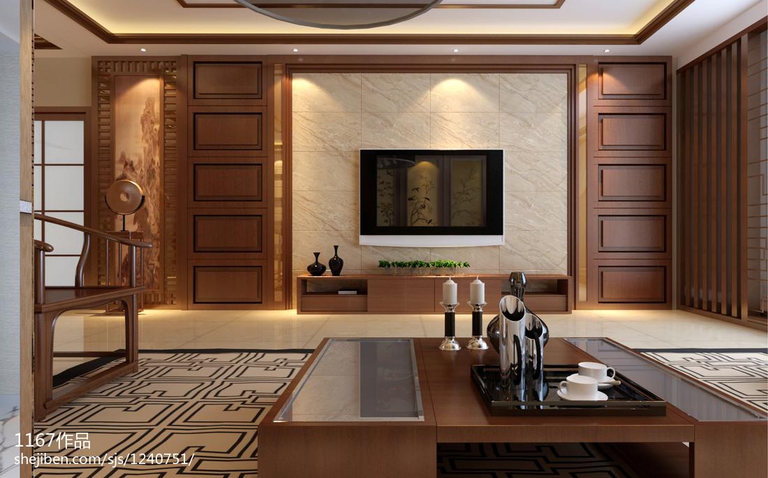 田园风格设计四居室装饰效果图片