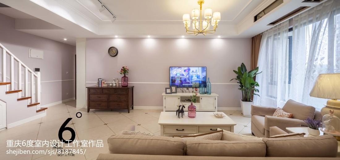 201897平米三居客厅美式装修效果图片欣赏