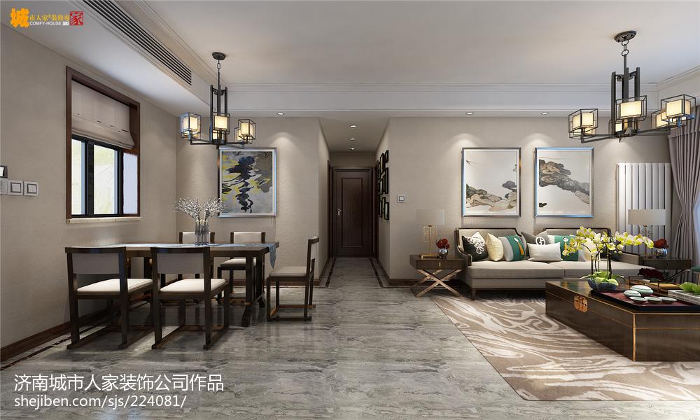 新中式风格设计复式家居餐厅图片