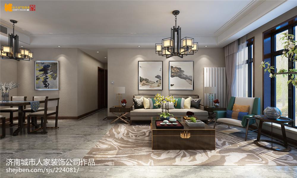 新中式风格设计卧室装饰效果图片