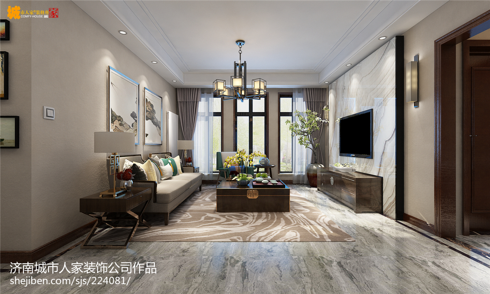 新中式风格设计厨房装饰效果图片