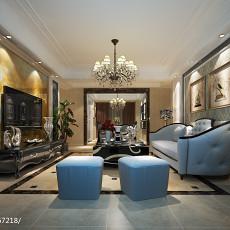 面积117平欧式四居客厅装修实景图片