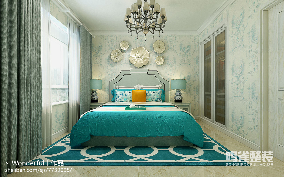 时尚纯净北欧卧室设计