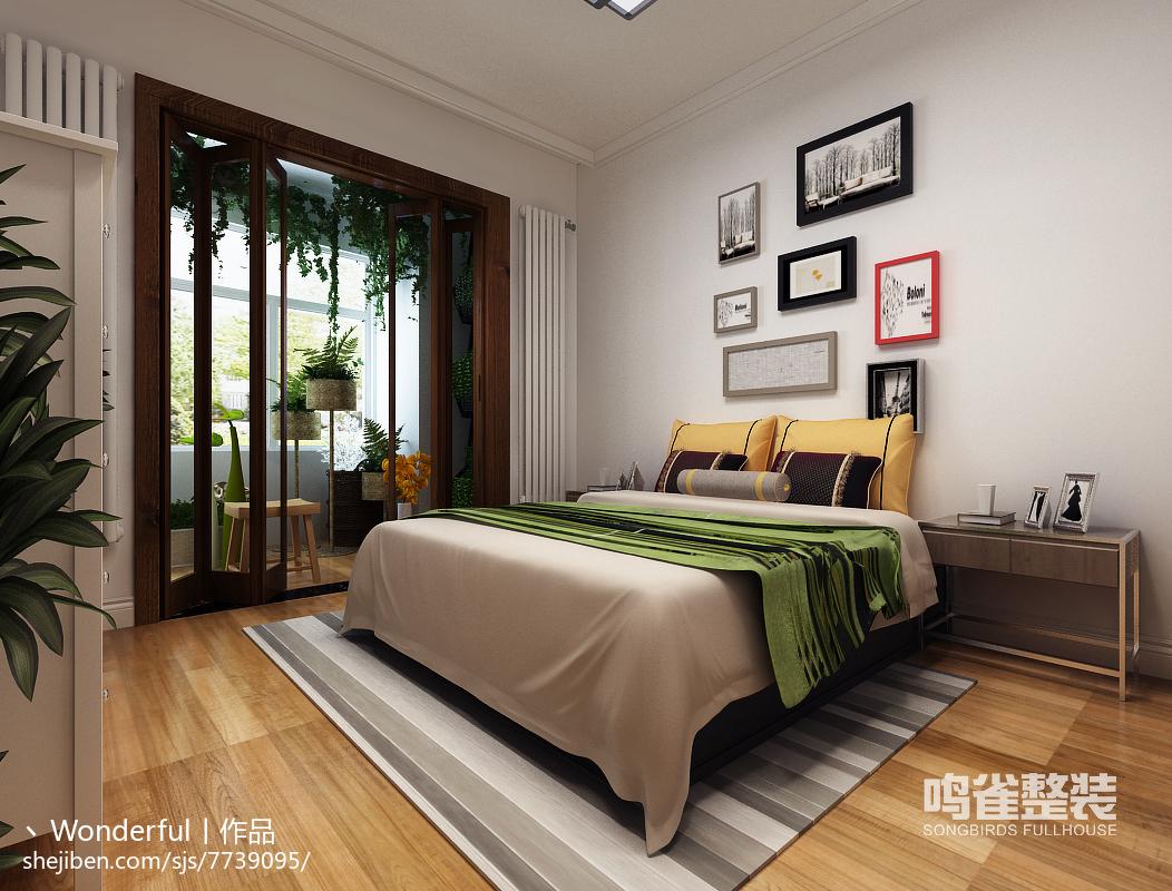 美式素雅复古卧室装修