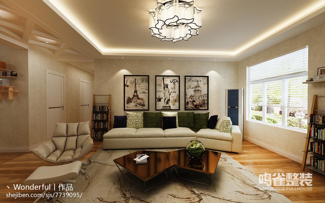 美式复古悠闲装修客厅