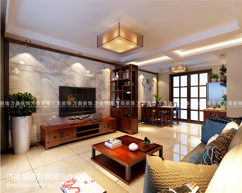最热109平米三居中式装修图片欣赏