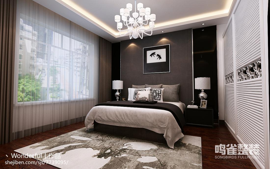 现代优雅原木卧室设计