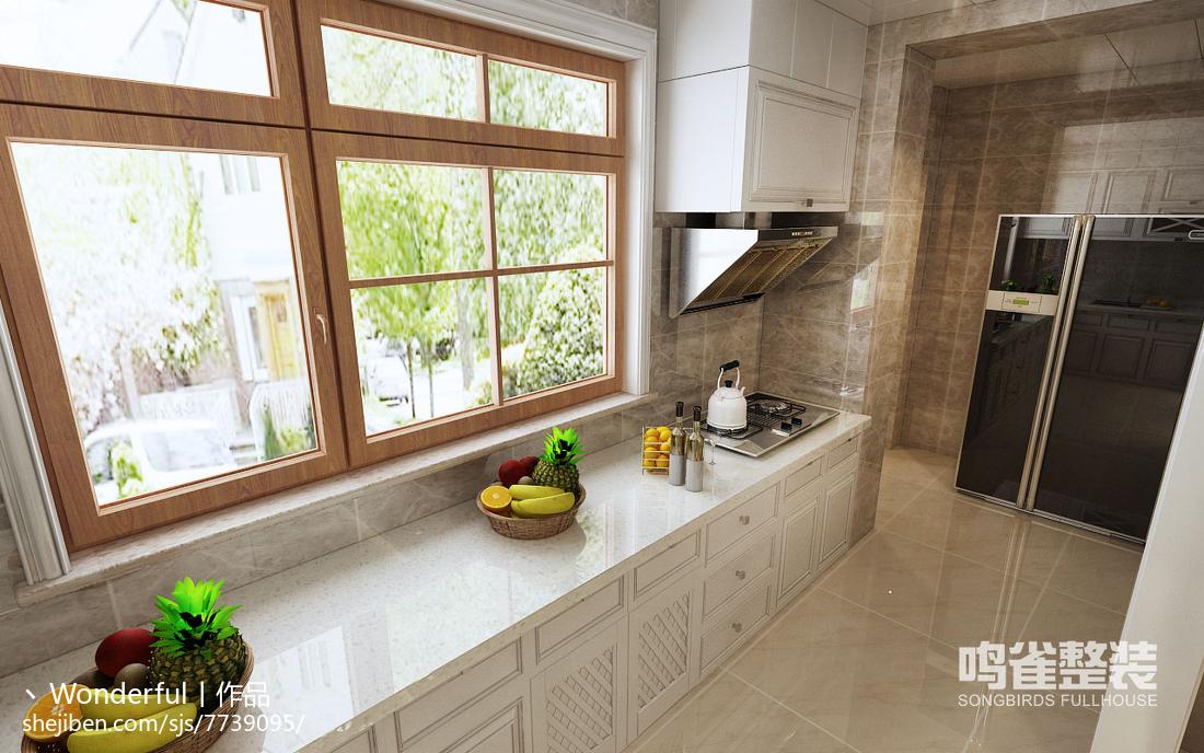 现代美式悠闲厨房设计