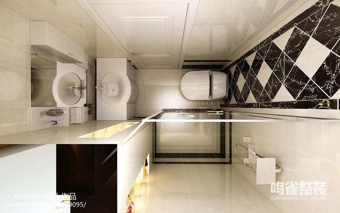 中式优雅卧室吊顶设计效果图