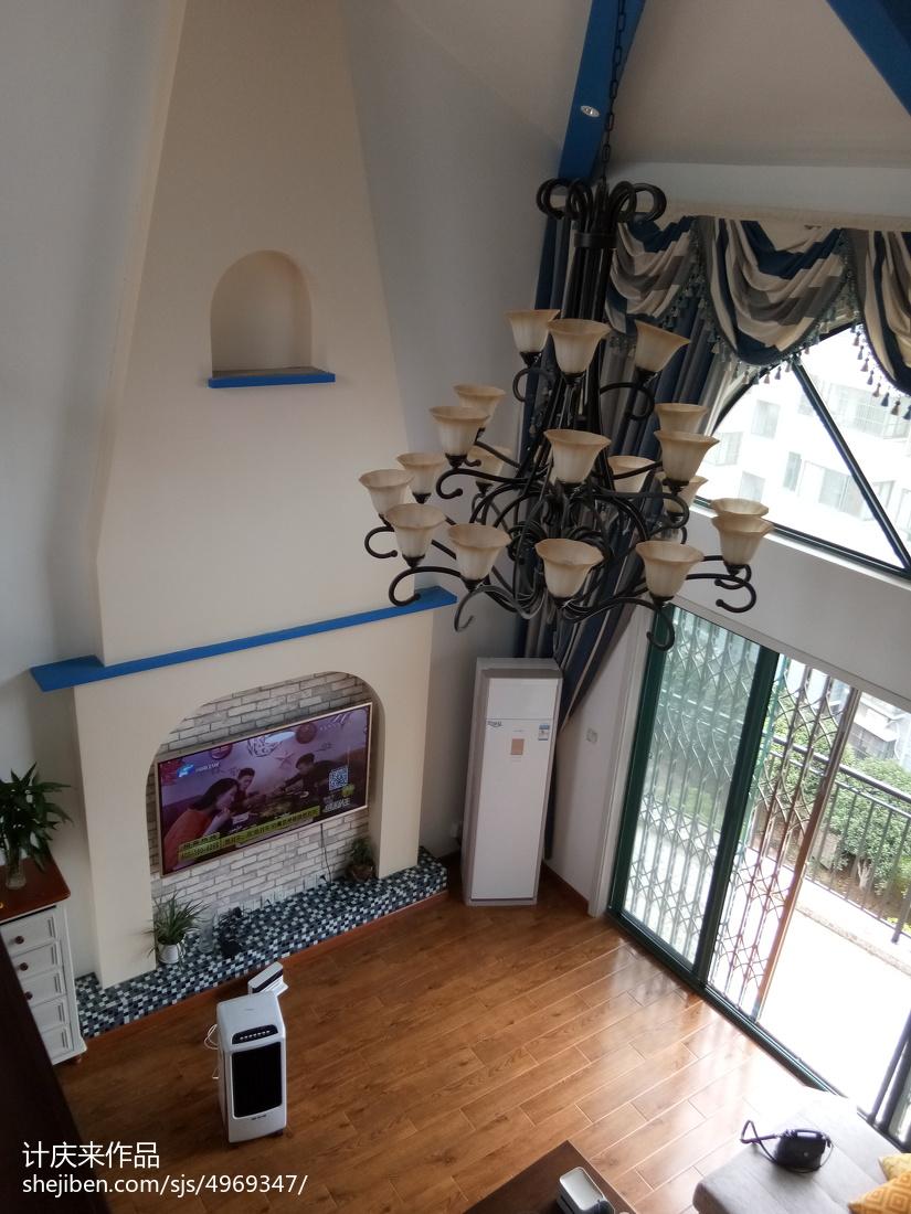 现代美式设计窗帘家装效果图