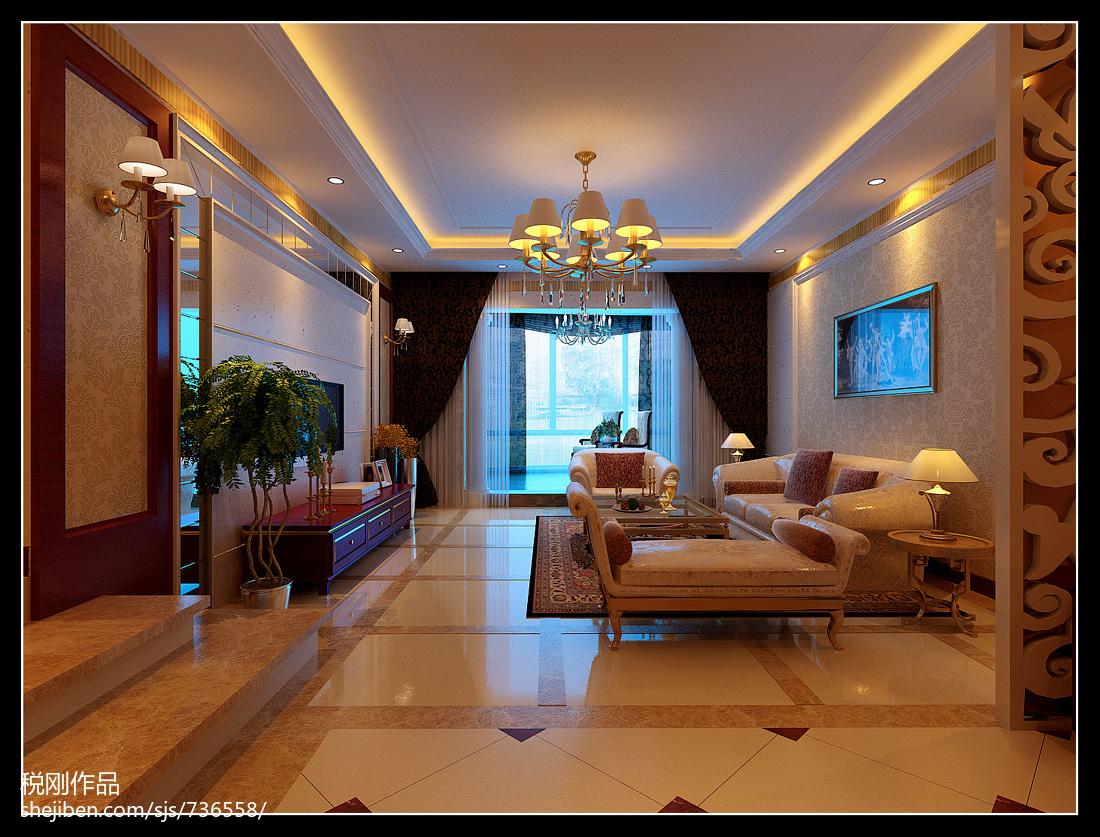 现代美式家装楼梯设计效果图