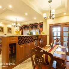 2018精选91平米三居餐厅新古典装修设计效果图片