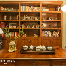 精选面积101平新古典三居书房装修实景图片欣赏