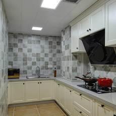 2018精选105平米三居厨房美式装修效果图片