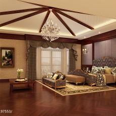 热门119平米欧式别墅卧室装修效果图片大全