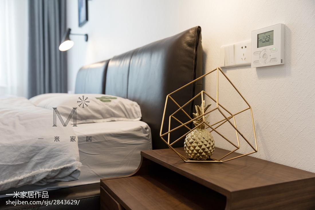 质朴73平现代三居卧室效果图片大全