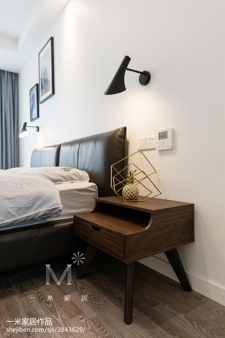 精美面积99平现代三居卧室效果图片