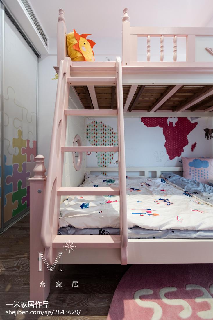 热门109平方三居儿童房现代装修图