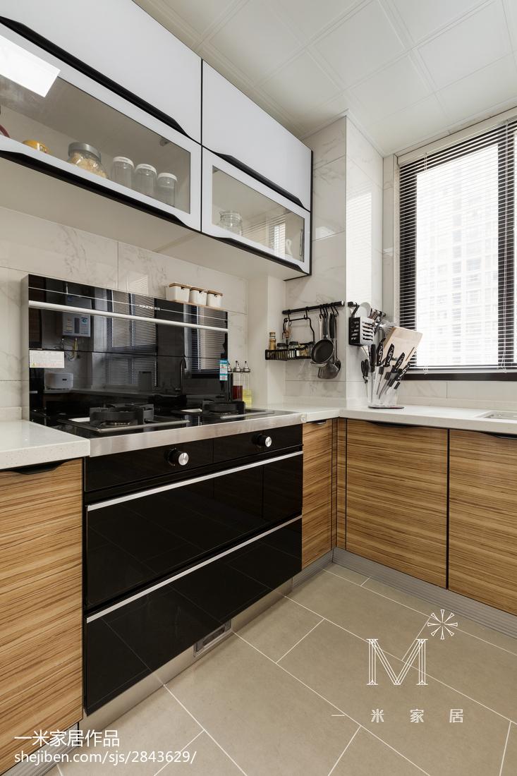 精美面积93平现代三居厨房装修设计效果图