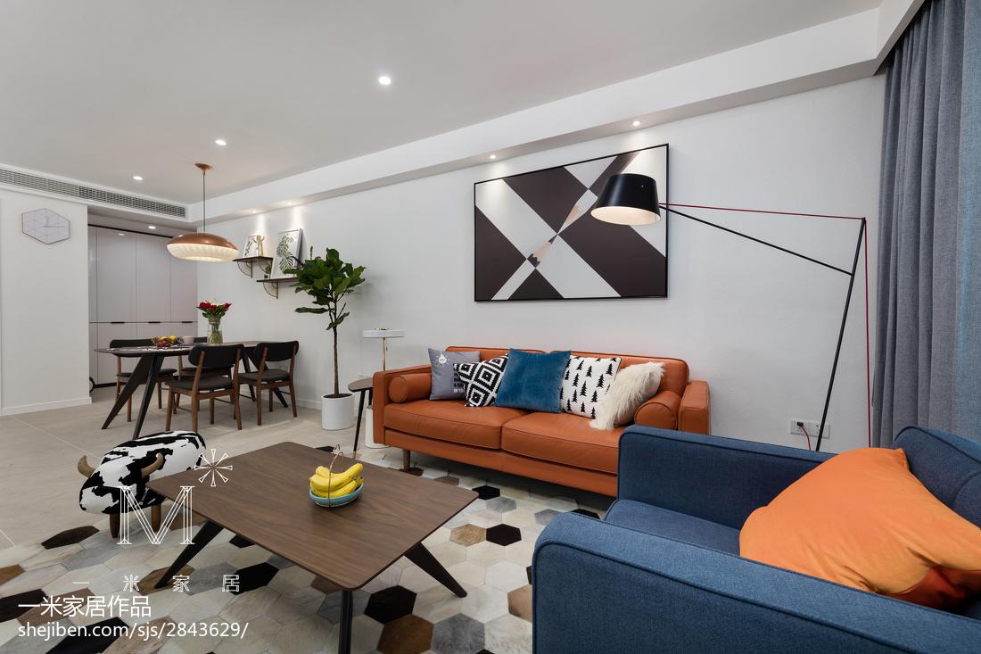 92平米三居客厅现代装修欣赏图片大全