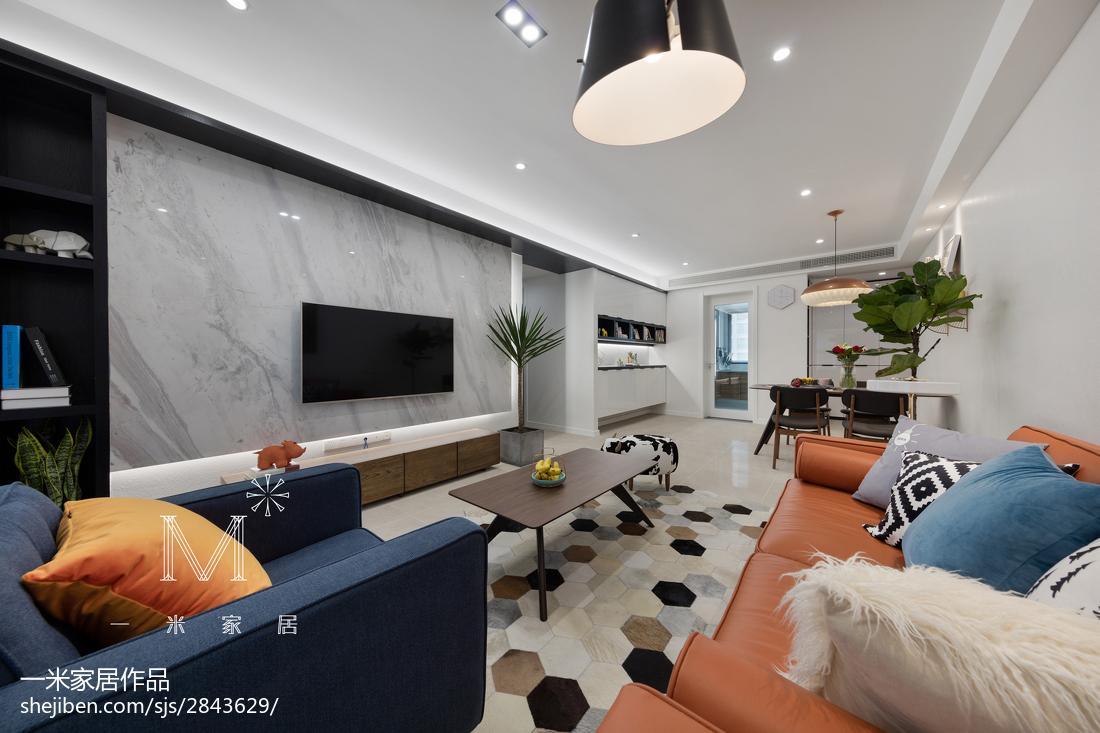 面积100平现代三居客厅装修欣赏图