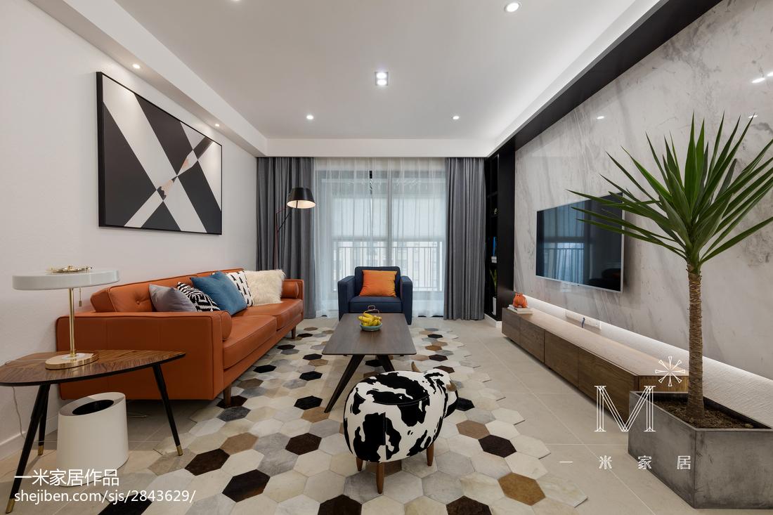 精选大小99平现代三居客厅装修实景图片大全
