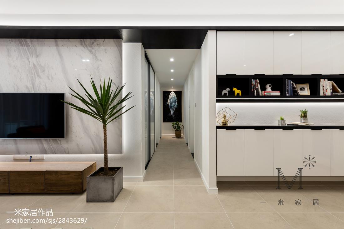 2018精选91平米三居客厅现代装修效果图片