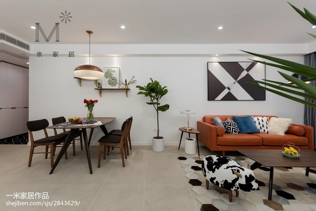 2018精选面积92平现代三居客厅装修实景图