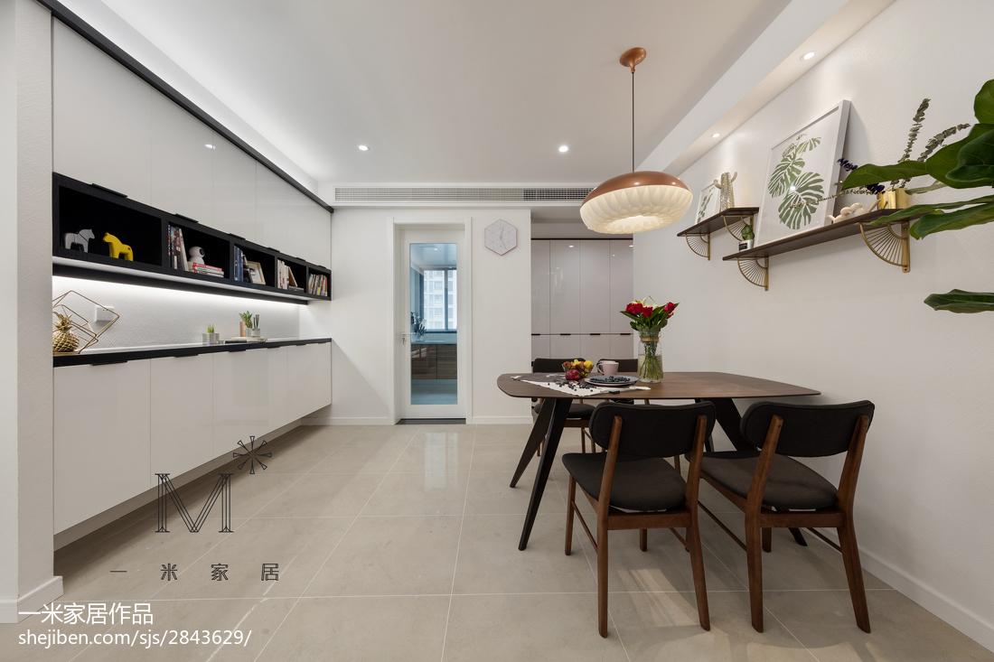精选102平米三居餐厅现代效果图片欣赏