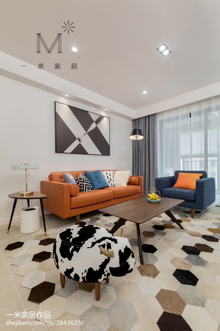 精美95平米三居客厅现代装修图片