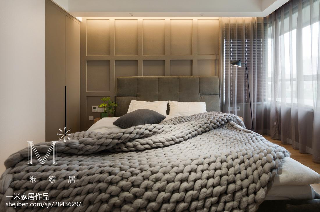 精美102平方三居卧室现代装修实景图片