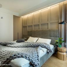热门面积95平现代三居卧室装修图片