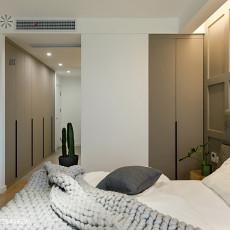 2018面积102平现代三居卧室装修实景图