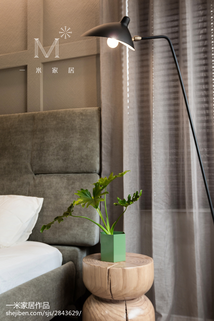 面积98平现代三居卧室设计效果图