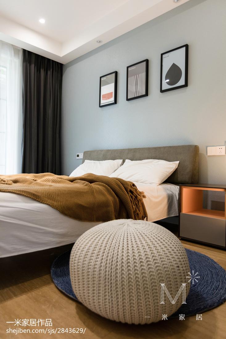 精美107平米三居卧室现代装修欣赏图片