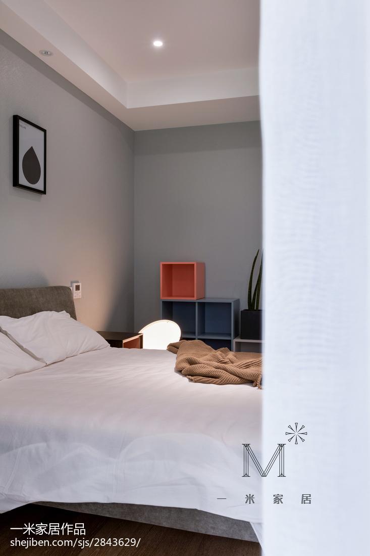 精美面积96平现代三居卧室效果图片大全