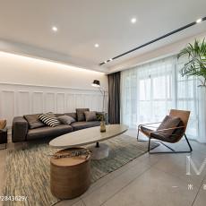 精美面积90平现代三居客厅装修实景图片